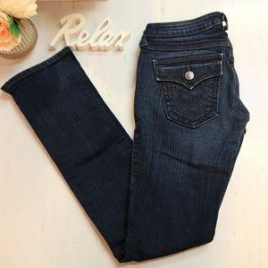 True religion dark wash boot cut jeans